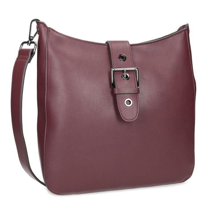 Dámská vínová kabelka s přezkou bata, červená, 961-5870 - 13