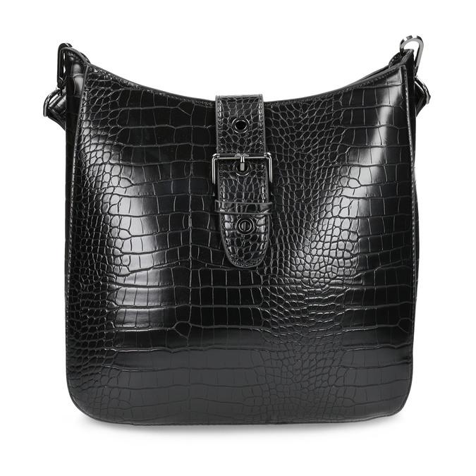 Dámská černá Crossbody kabelka se strukturou bata, černá, 961-6872 - 26