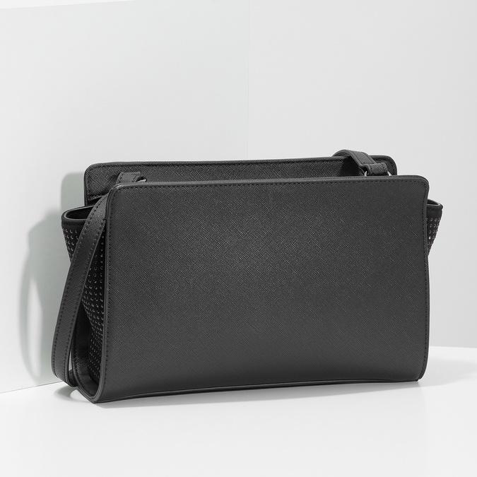 Černá kabelka crossbody s kamínky bata, černá, 961-6885 - 17