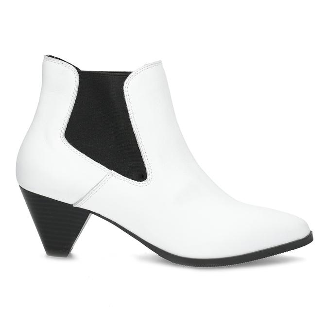 Bílá kožená obuv ve stylu Chelsea Boots bata, bílá, 696-1661 - 19