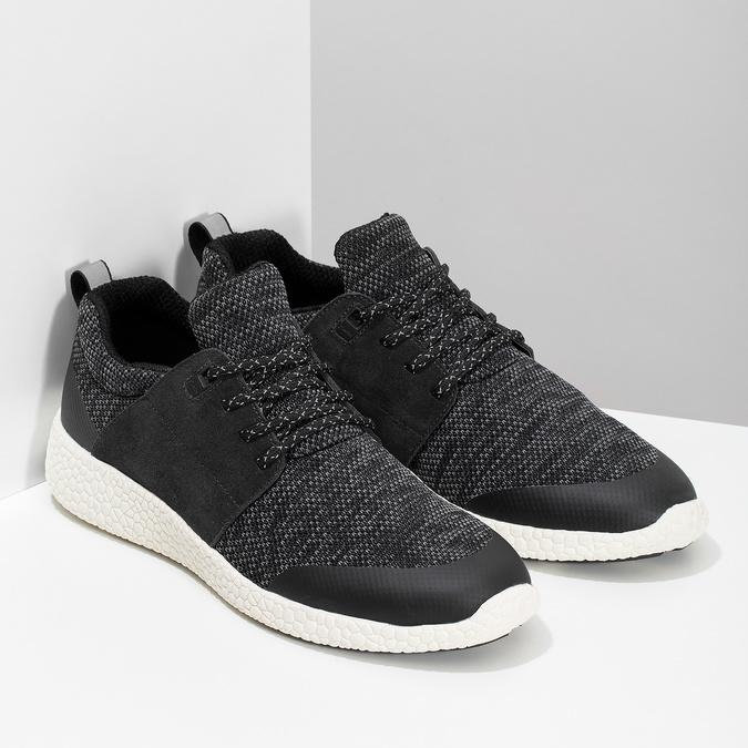 Pánské sportovní tenisky černé bata-light, šedá, 849-2634 - 26