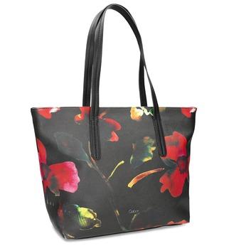 Černá kabelka s květinovým vzorem gabor-bags, vícebarevné, 961-0036 - 13