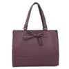 Vínová kabelka s mašlí gabor-bags, červená, 961-5061 - 26