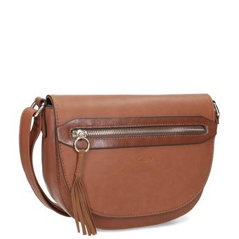 Hnědá crossbody kabelka se střapcem gabor-bags, hnědá, 961-3019 - 13