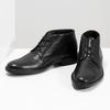 Kožená kotníčková obuv černá pánská hladká comfit, černá, 824-6822 - 16