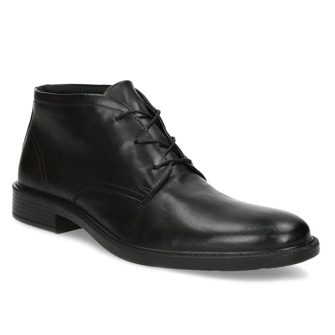 Kožená kotníčková obuv černá pánská hladká comfit, černá, 824-6822 - 13