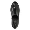 Dámské polobotky na podpatku kožené flexible, černá, 714-6600 - 17