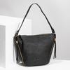 Černá kabelka se zlatými zipy gabor-bags, černá, 961-6086 - 17