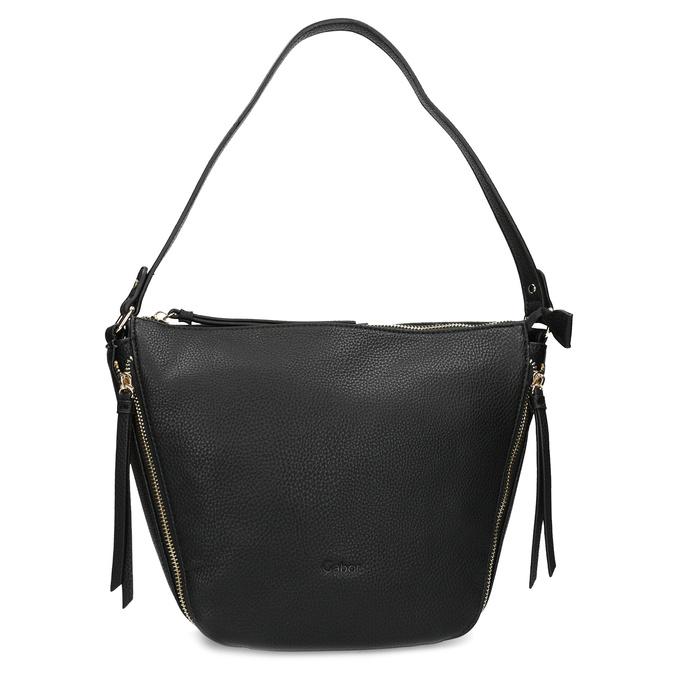 Černá kabelka se zlatými zipy gabor-bags, černá, 961-6086 - 26