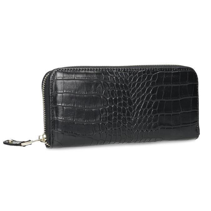 Černá dámská peněženka se strukturou bata, černá, 941-6220 - 13