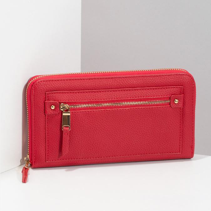 Dámská červená peněženka se zipem bata, červená, 941-5221 - 17
