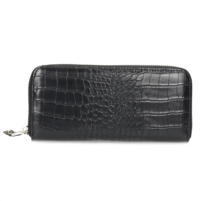 Černá dámská peněženka se strukturou bata, černá, 941-6220 - 26