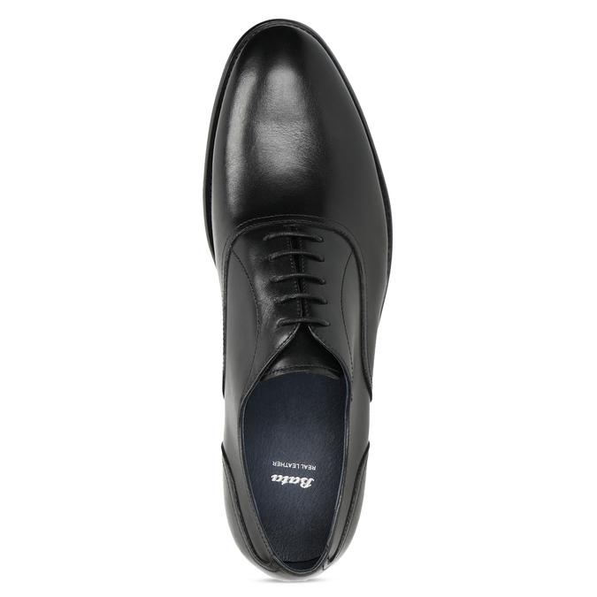 Pánské černé kožené Oxford polobotky bata, černá, 824-6615 - 17