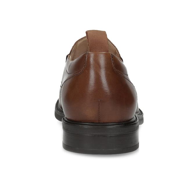 Hnědé kožené pánské mokasíny bata, hnědá, 816-3628 - 15