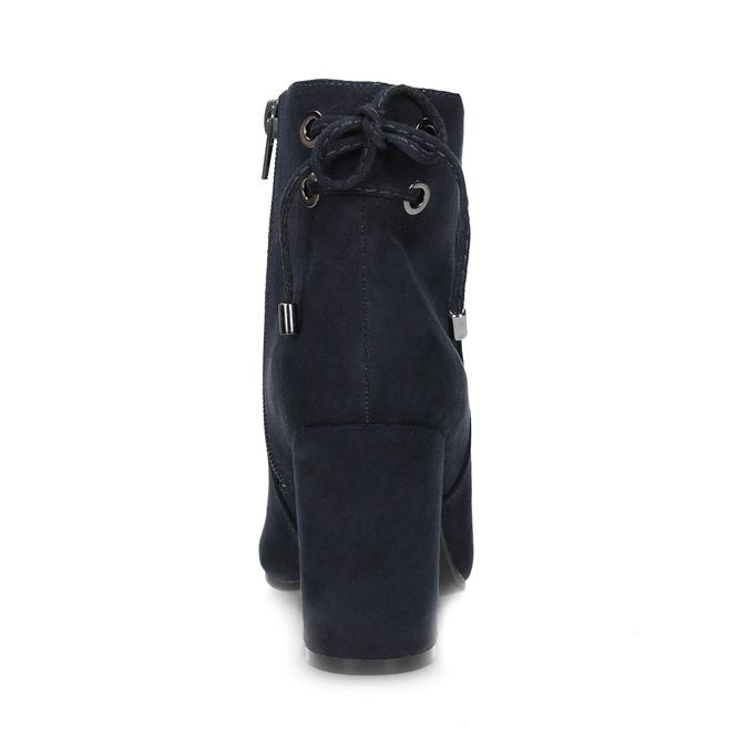 Tmavě modré dámské kotníčkové kozačky insolia, modrá, 799-9635 - 15