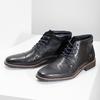 Kotníčková pánská kožená obuv bata, černá, 826-6611 - 16