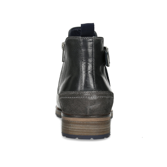 Černá kožená Chelsea obuv s přezkou bata, černá, 826-6781 - 15