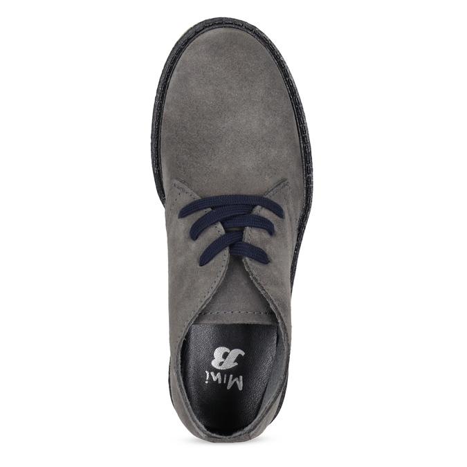 Kožená dětská kotníčková obuv mini-b, šedá, 313-2278 - 17