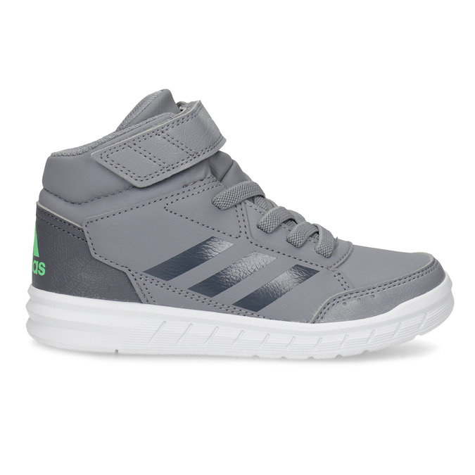 Dětské šedé kotníčkové tenisky adidas, šedá, 301-2220 - 19