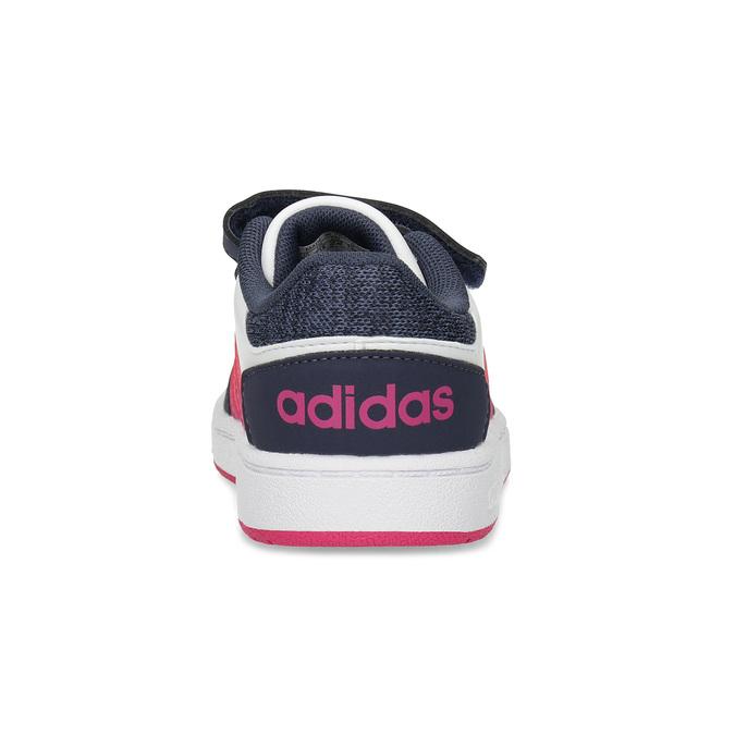 Bílé dětské tenisky na suché zipy adidas, vícebarevné, 101-1194 - 15