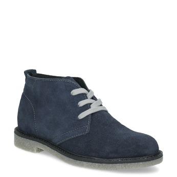Modrá dětská kožená kotníčková obuv mini-b, modrá, 313-9278 - 13
