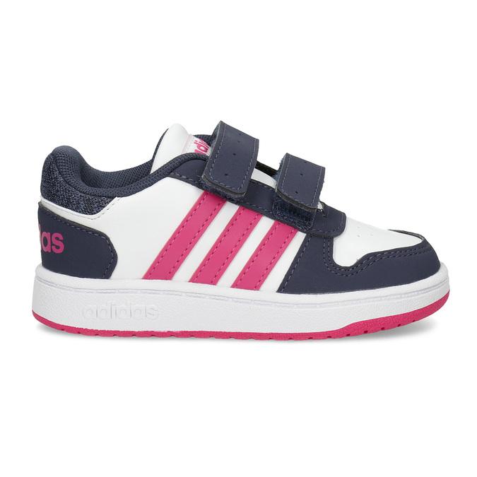 Bílé dětské tenisky na suché zipy adidas, vícebarevné, 101-1194 - 19