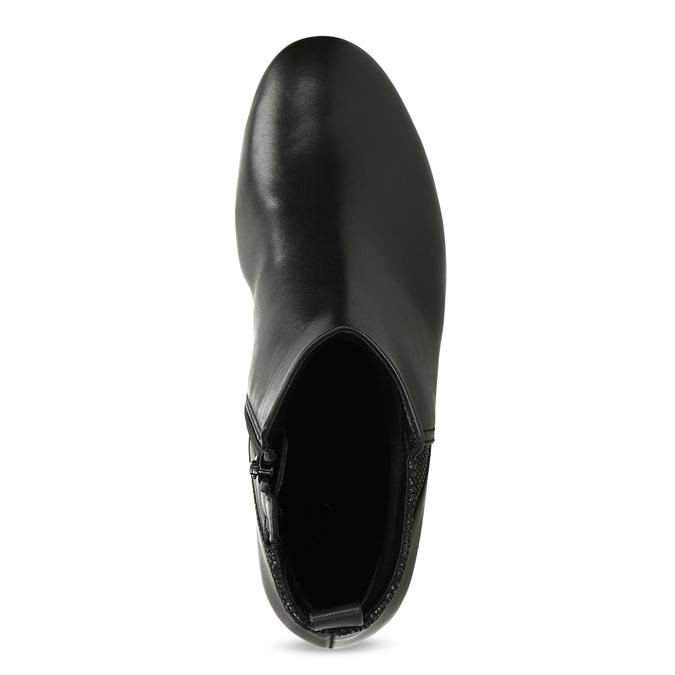 Dámské kožené černé kotníčkové kozačky gabor, černá, 614-6049 - 17