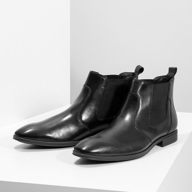 Kožená pánská kotníčková Chelsea obuv bata, černá, 824-6890 - 16
