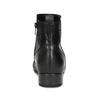 Dámské kožené černé kotníčkové kozačky gabor, černá, 614-6049 - 15