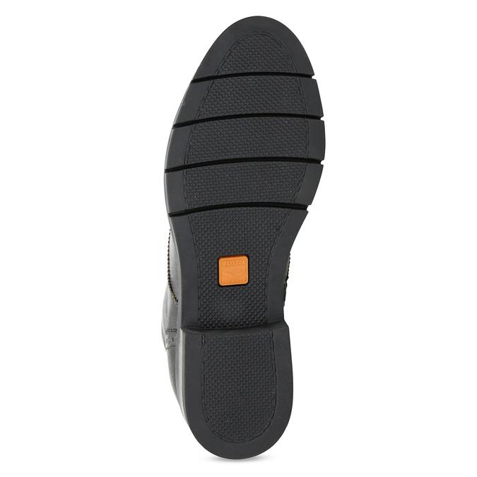 Dámská kotníčková obuv kožená metalická flexible, stříbrná, 596-6695 - 18