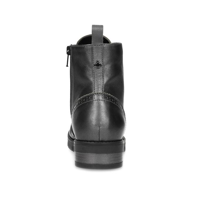 Dámská kotníčková obuv kožená metalická flexible, stříbrná, 596-6695 - 15