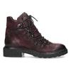 Vínová kožená kotníčková obuv se šněrováním bata, červená, 596-5719 - 19