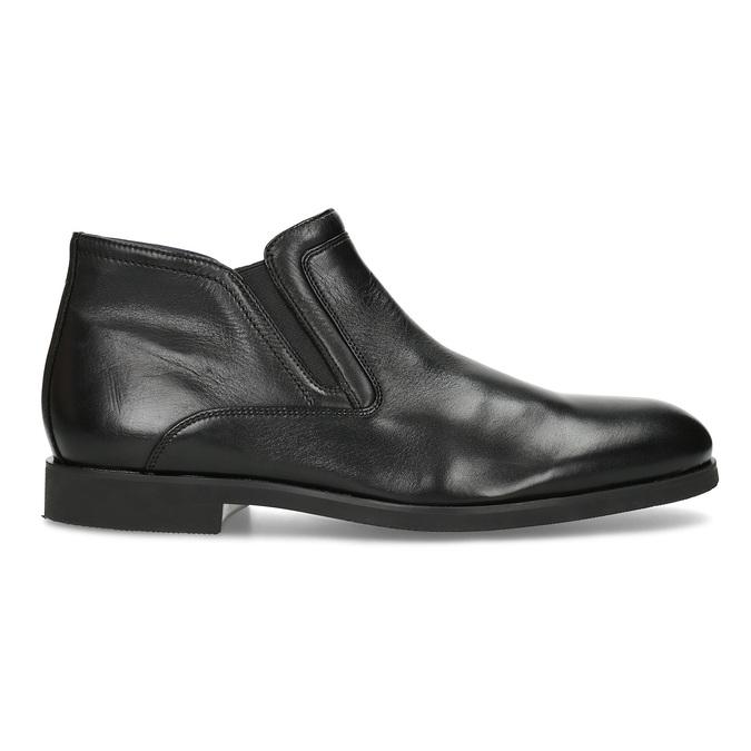 Kožená kotníčková pánská obuv s prošitím bata, černá, 824-6621 - 19
