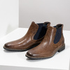 Pánská kožená obuv ve stylu Chelsea bata, hnědá, 826-3865 - 16