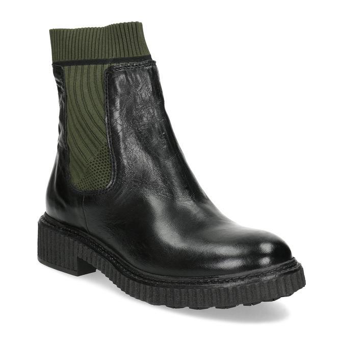 Ponožkové kožené kozačky v Chelsea stylu bata, černá, 596-6721 - 13