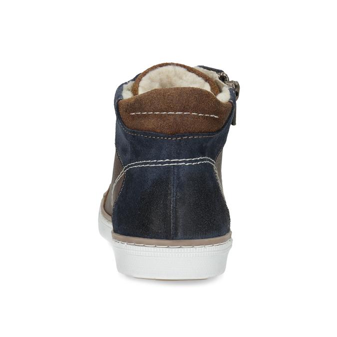 Hnědá kožená dětská kotníčková obuv mini-b, hnědá, 414-3602 - 15