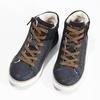 Dětské kožené kotníčkové tenisky mini-b, modrá, 414-9602 - 16