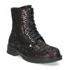 Kotníčková kožená dětská obuv se vzorem mini-b, hnědá, 426-4560 - 13