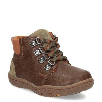 Chlapecká kotníčková obuv hnědá bubblegummers, hnědá, 111-4629 - 13