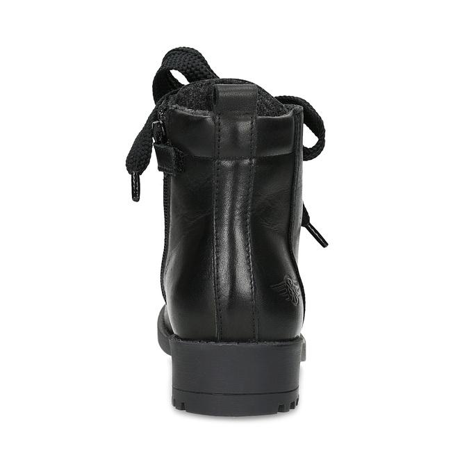 Kožená kotníčková dětská obuv mini-b, černá, 424-6600 - 15
