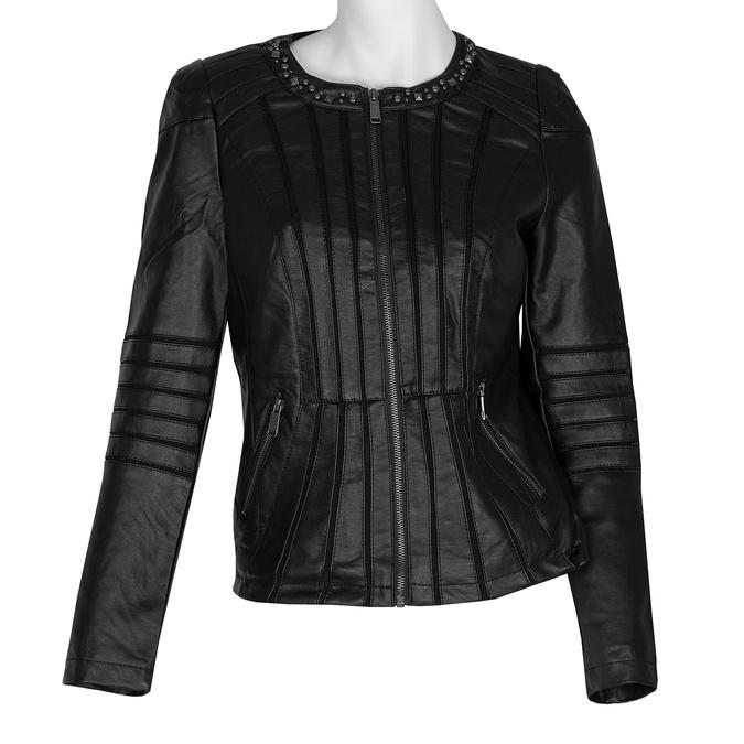 Černá dámská bunda s prošíváním bata, černá, 971-6227 - 13