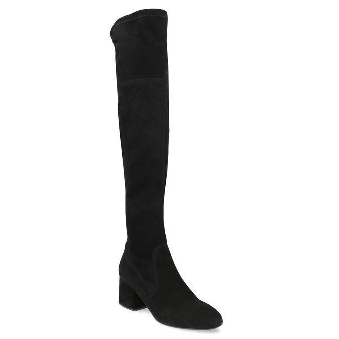 Černé kozačky na stabilním podpatku bata, černá, 793-6614 - 13