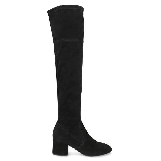 Černé kozačky na stabilním podpatku bata, černá, 793-6614 - 19