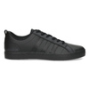 Černé pásnké tenisky s rovnou podešví adidas, černá, 801-6236 - 19