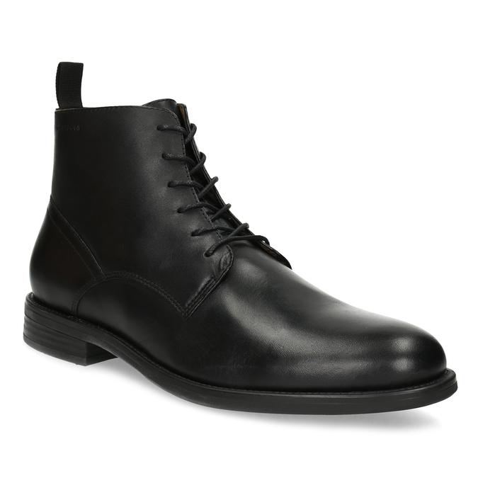 Pánská kožená kotníčková obuv černá vagabond, černá, 824-6238 - 13