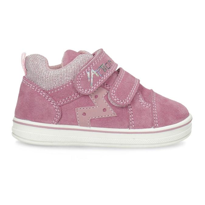 Růžové dětské kožené tenisky bubblegummers, růžová, 123-5611 - 19