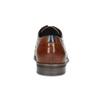 Hnědé kožené polobotky s brogue zdobením bugatti, hnědá, 826-3059 - 15