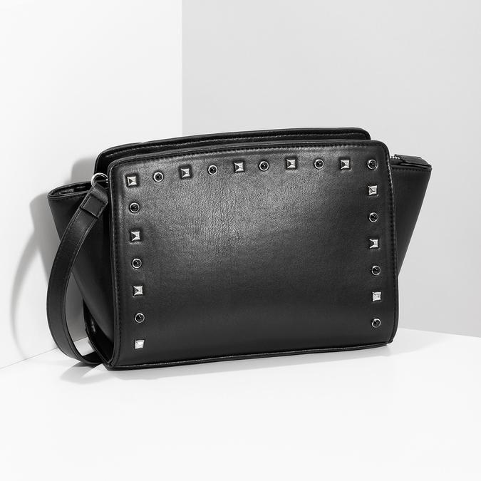 Crossbody kabelka s kovovými cvoky bata, černá, 961-6915 - 17