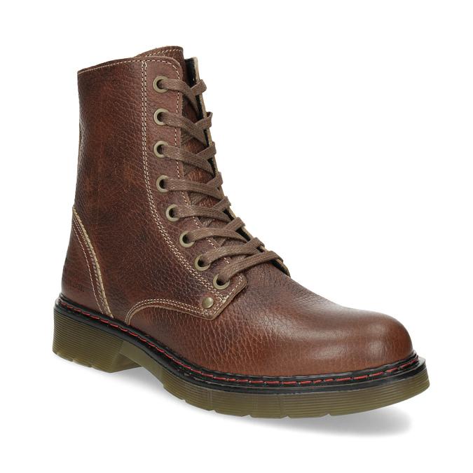 c93b2e563a4 Baťa Hnědá kožená dámská kotníčková obuv - Všechny boty