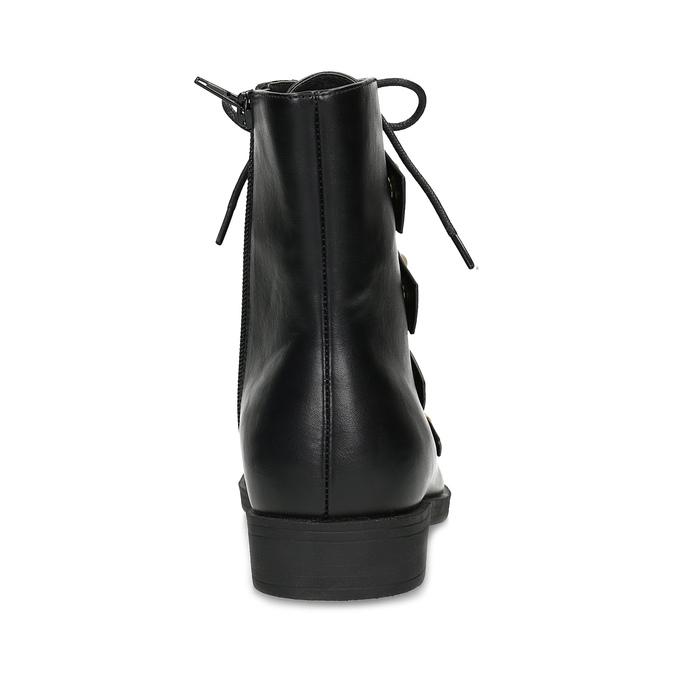 Vysoká kotníčková obuv s perličkami bata, černá, 591-6634 - 15